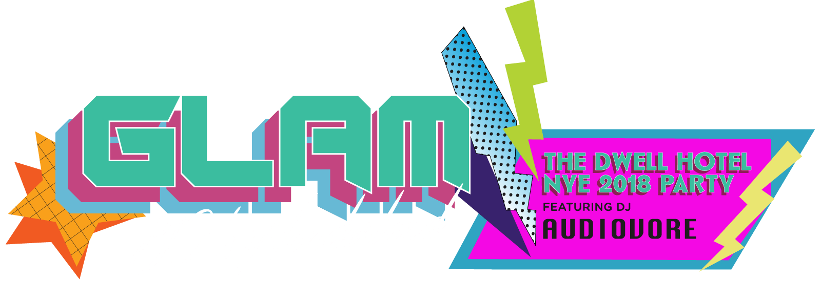 Announcing the Glam 80s Wonderland–New Years Eve Party 2018 at The Dwell Hotel featuring dj Audiovore